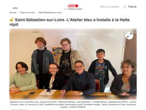L'Atelier bleu s'installe à la Halte répit